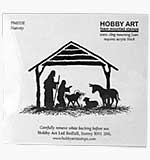 SO: Nativity Scene (Hobby Art Cling Stamp)