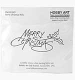Merry Christmas Holly (Hobby Art Cling Stamp)