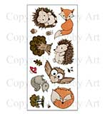 Hobby Art Clear Stamp Set - Forest Friends