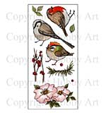 Hobby Art Clear Stamp Set - Garden Birds