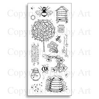 Hobby Art Clear Stamp Set - Busy Bees