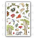 SO: Hobby Art Clear Stamp Set - Bluebell Wood