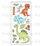 Hobby Art Stamp Set - Dinosaurs