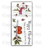 Hobby Art Stamp Set - Snowman & Friends