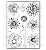 SO: Hobby Art Stamp Set - Abstract Flowers set 1