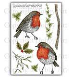 Hobby Art Stamp Set - Robins