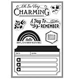 So Very Charming - Basic Grey Mint Julep Clear Stamps by Hero Arts