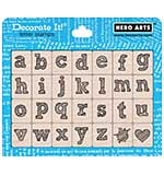 SO: Hero Arts Mounted Rubber Stamp Set - Stylish Letter Lower Case
