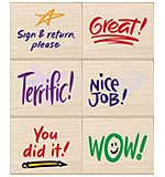 PRE: Hero Arts Mounted Rubber Stamp Set - Stamps Of Approval