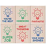 PRE: Hero Arts Mounted Rubber Stamp Set - Great Thinking Teacher
