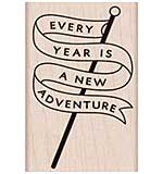PRE: Hero Arts Mounted Rubber Stamp - Adventure Banner