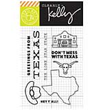 PRE: Kelly Purkey Clear Stamps - Texas