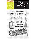 Kelly Purkey Clear Stamps - San Francisco