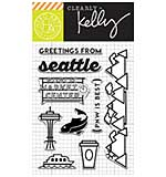 PRE: Kelly Purkey Clear Stamps - Greetings From Seattle