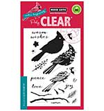 Colour Layering Christmas Cardinal Bird - Clear Stamp Set by Hero Arts
