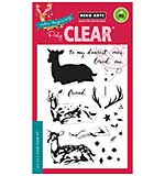 Colour Layering Deer - Clear stamp Set by Hero Arts
