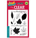 Colour Layering Grateful Leaves - Clear Stamp set by Hero Arts