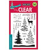 Colour Layering Snowy Christmas Trees - Clear Stamp Set by Hero Arts