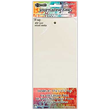 Dyan Reaveley\'s Dylusions Journal Tags 10pk - Media Paper #10