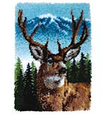SO: Wonderart Classic Latch Hook Kit - Deer (20 x 30 inches)