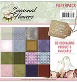 Find It Trading Precious Marieke 6 x 6 Paper Pack - Seasonal Flowers, 16 Double Sided Designs, 24pk