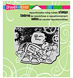 Stampendous Cling Rubber Stamp 4.75x4.5 Sheet - Screwloose Hug