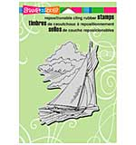 SO: Stampendous Cling Rubber Stamp 6.5x4.5 Sheet - Wind In Sails