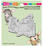 Stampendous House Mouse Cling Rubber Stamp 4.75x4.5 Sheet - Vet Visit