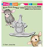 Stampendous House Mouse Cling Rubber Stamp 4.75x4.5 Sheet - So Big