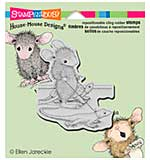 Stampendous House Mouse Cling Rubber Stamp 4.75x4.5 Sheet - Reptile Walk