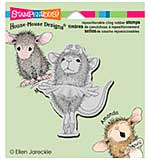 Stampendous House Mouse Cling Rubber Stamp 4.75x4.5 Sheet - Ballerina Baby