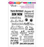 Stampendous Perfectly Clear Stamps 4x6 Sheet - Dog Sayings