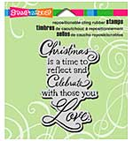 SO: Stampendous Christmas Cling Rubber Stamp 4.75x4.5 Sheet - Christmas Love