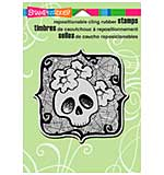 SO: Stampendous Halloween Cling Rubber Stamp 6.5x4.5 Sheet - Skull Ghoul