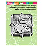 SO: Stampendous Christmas Cling Rubber Stamp 6.5x4.5 Sheet - Robin Greetings
