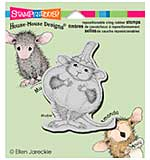 Stampendous House Mouse Cling Rubber Stamp 4.75x4.5 Sheet - Pumpkin Mouse