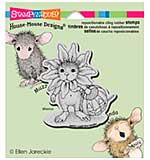 Stampendous House Mouse Cling Rubber Stamp 4.75x4.5 Sheet - Daisy Mouse