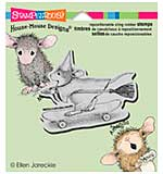 Stampendous House Mouse Cling Rubber Stamp 4.75x4.5 Sheet - Skateboard Witch