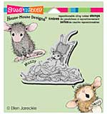 Stampendous House Mouse Cling Rubber Stamp 4.75x4.5 Sheet - Leaf Plunge
