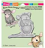 Stampendous House Mouse Cling Rubber Stamp 4.75x4.5 Sheet - Mint Nibbler
