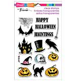 Stampendous Perfectly Clear Halloween Stamps 4x6 Sheet - Halloween Haunts