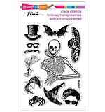 Stampendous Perfectly Clear Halloween Stamps 4x6 Sheet - Skeleton Style