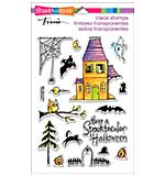 Stampendous Perfectly Clear Halloween Stamps 4x6 Sheet - Spooky House