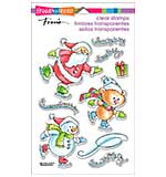 Stampendous Perfectly Clear Christmas Stamps 4x6 Sheet - Holiday Skate