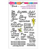 Stampendous Perfectly Clear Christmas Stamps 4x6 Sheet - Joyful Phrases