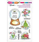 Stampendous Perfectly Clear Christmas Stamps 4x6 Sheet - Christmas Visions