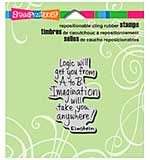 Stampendous Cling Rubber Stamp 3.5x4 Sheet - Imagination