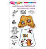 SO: Stampendous Frans Clear Stamp and Die Set 5.25x9 - Cottage Home