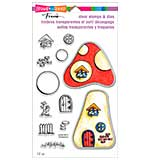 SO: Stampendous Frans Clear Stamp and Die Set 5.25x9 - Mushroom Home