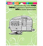 SO: Stampendous Frans Cling Stamp - Tiny Trailer